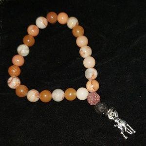 Jewelry - Carnelian, Apricot Agate, Aventurine Bracelet